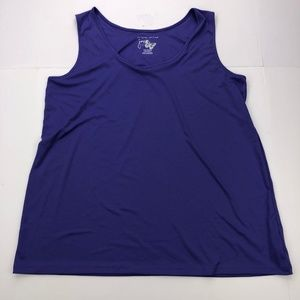 Just My Size Women's Size 2X Blue Tank Top